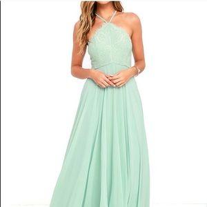 Everlasting Enchantment Sage Green Maxi Dress